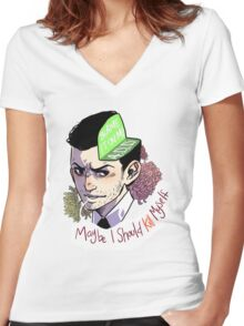 Blame it on my ADD (baby) Women's Fitted V-Neck T-Shirt