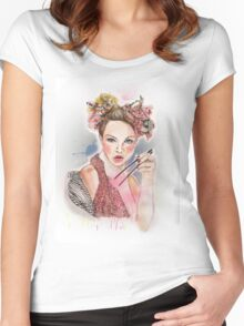 Sushi girl Women's Fitted Scoop T-Shirt