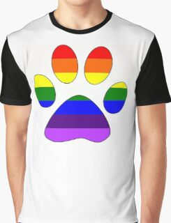 Rainbow Paw Graphic T-Shirt