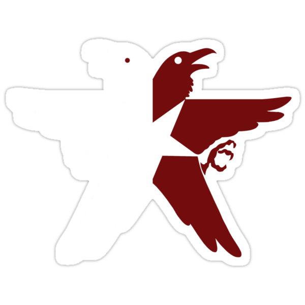 Infamous Second Son Eagle (White & Red) by Irvin Pagan