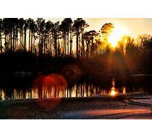 Sabine Sunset Photographic Print