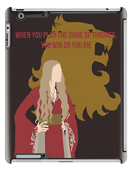 Cersei Lannister [w/ Lannister Sigil translucent, Win or Die quote] - Game of Thrones - Minimalist Design  by Hrern1313