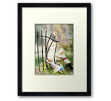 The Other Side Of The Fence Framed Print