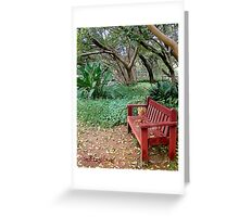 The Zen Of A Bench Greeting Card