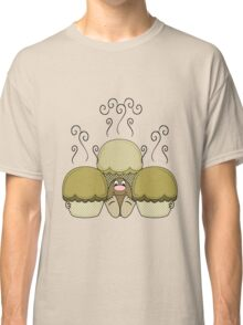 Cute Monster With Yellow Frosted Cupcakes Classic T-Shirt