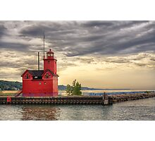 Holland Harbor Inner Lighthouse, Holland Michigan Photographic Print