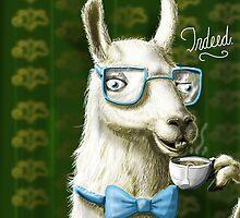 The Fancy Llama by theawkwardyeti