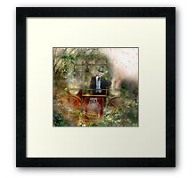 Deep In The Woods (Is The Fairyloon Man) Framed Print