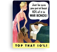 Top That 10% -- World War Two Canvas Print
