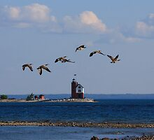 Round Island Lighthouse, Michigan by DArthurBrown
