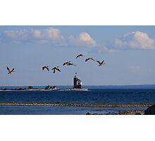 Round Island Lighthouse, Michigan Photographic Print
