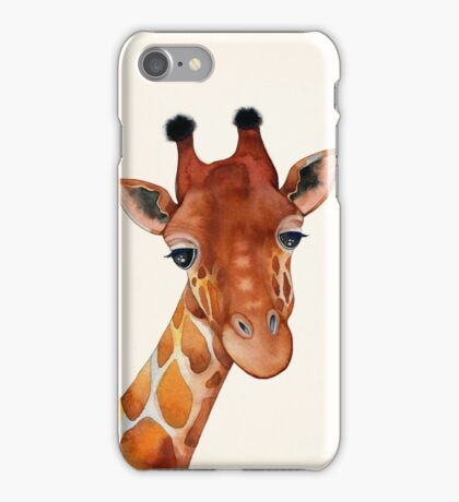 Giraffe Watercolor iPhone Case/Skin