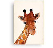 Giraffe Watercolor Canvas Print