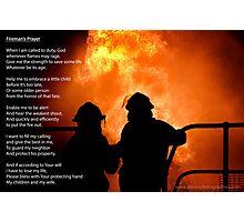 Fireman's Prayer Photographic Print