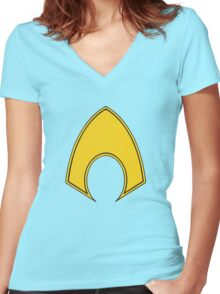 Aquaman Women's Fitted V-Neck T-Shirt