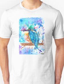KINGFISHER - Watercolor bird painting - artwork by Jonny2may Tshirts + More! T-Shirt