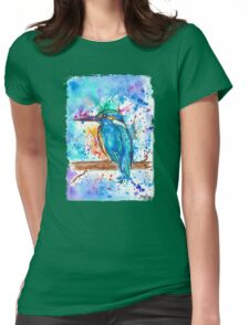 KINGFISHER - Watercolor bird painting - artwork by Jonny2may Tshirts + More! Womens Fitted T-Shirt