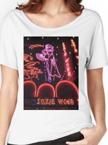 Suzie Wong's bar on Soi Cowboy (vertical) Women's Relaxed Fit T-Shirt