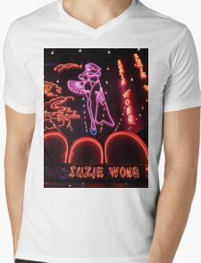 Suzie Wong's bar on Soi Cowboy (vertical) Mens V-Neck T-Shirt