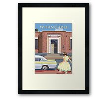 Whangarei - The Old Library Art Deco Framed Print