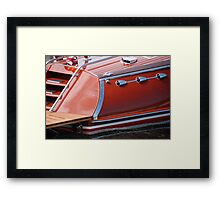 Stern Hacker Runabout Framed Print
