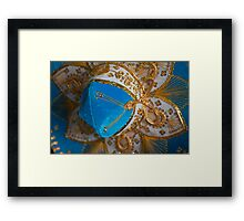 Blue and Gold Mexican Sombrero Framed Print