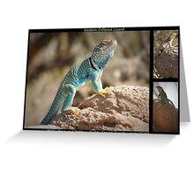 Eastern Collard Lizard ~ Collage Greeting Card