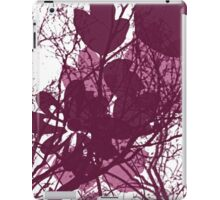 Burgundy Branches and Leaves iPad Case/Skin