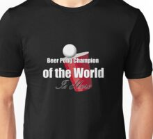 Beer Pong Champion Tee Unisex T-Shirt