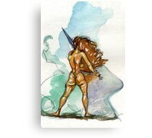 Sword Stance Canvas Print