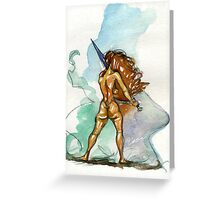 Sword Stance Greeting Card