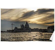 Watercolor Sky over Venice Poster