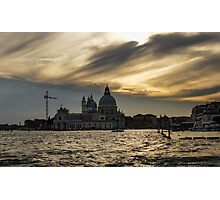 Watercolor Sky over Venice Photographic Print
