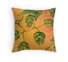 Beer Hops VII Throw Pillow