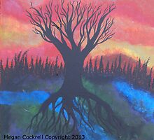 Tree Of LIfe Abstract Landsacpe by Megan Cockrell