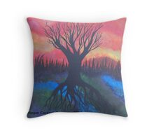 Tree Of LIfe Abstract Landsacpe Throw Pillow