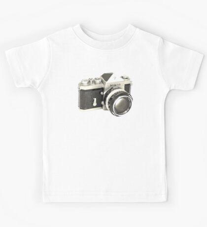 Nikon F SLR Camera Kids Tee