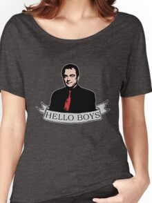 Crowley - Hello boys with banner Women's Relaxed Fit T-Shirt