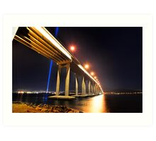 Tasman Bridge Dark MoFo spectra lights  Art Print