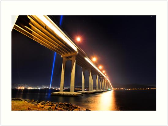 Tasman Bridge Dark MoFo spectra lights  by Robert-Todd