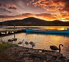 Sunrise at Franklin, Tasmania by Chris Cobern