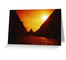 Red Vaticano - Lomo Greeting Card
