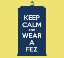 Keep Calm and Wear a Fez Kids Tee
