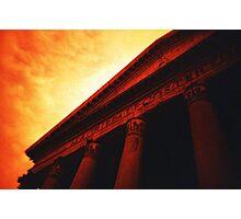 Atop the Pillars of Pantheon Photographic Print