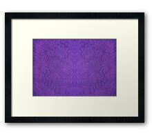 Purple Tones Suade Leather Embossed Floral Pattern Framed Print