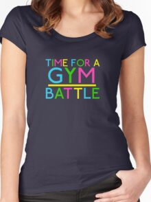 Time For A Gym Battle - Neon Women's Fitted Scoop T-Shirt