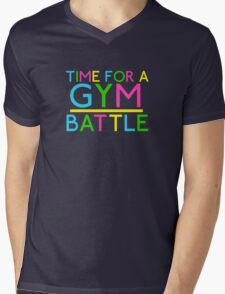 Time For A Gym Battle - Neon Mens V-Neck T-Shirt