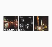 Melbourne shines at night (horizontal) by Linda Lees