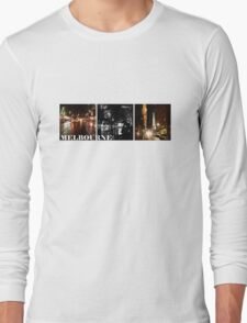 Melbourne shines at night (horizontal) Long Sleeve T-Shirt