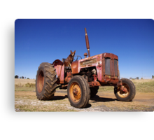 Tractor hound Canvas Print